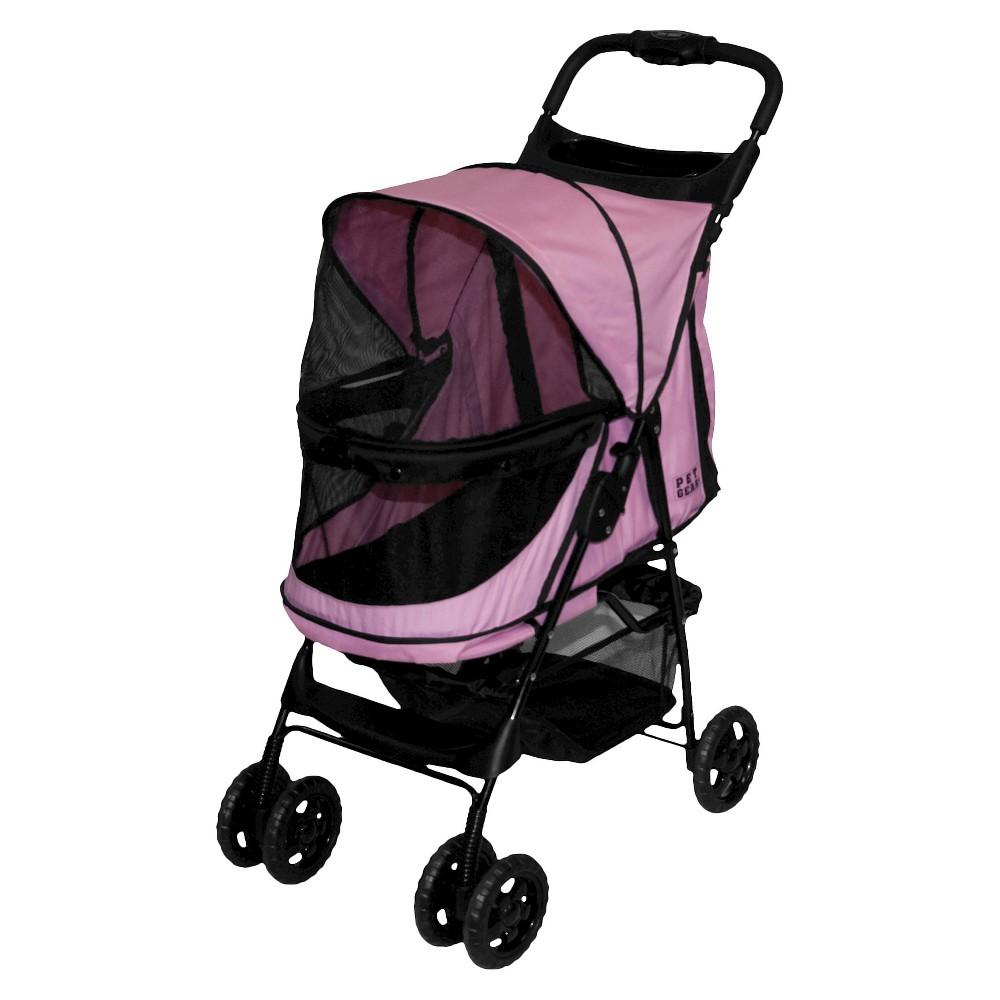 Pet Gear Happy Trails No-Zip Dog Stroller - 30.5L x 15W - Pink Diamond Compare