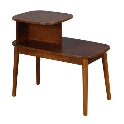 Maxwell Mid-Century Modern End Table Espresso - Breighton Home