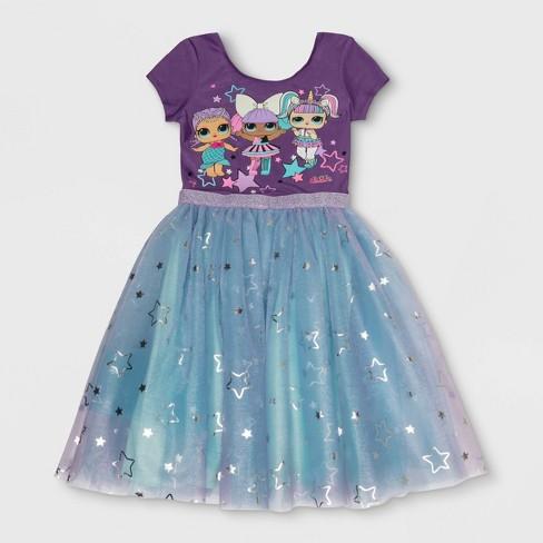 b9514e6c9e Girls' L.O.L. Surprise! Costume Dress - Purple : Target