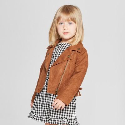 Toddler Girls' Moto Jacket - Genuine Kids® from OshKosh Brown 2T