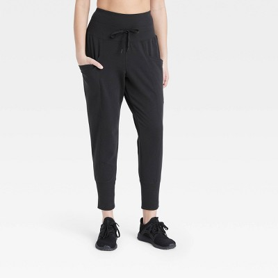 "Women's High-Rise Ribbed Jogger Pants 25.5"" - All in Motion™"