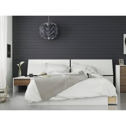 3pc Modus Queen Bedroom Set Walnut/White - Nexera