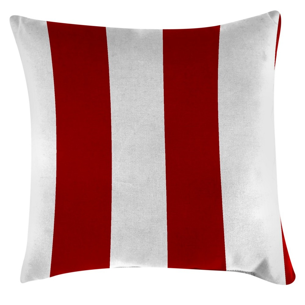 Image of Jordan Set of Accessory Toss Pillows - Cabana Stripe Red