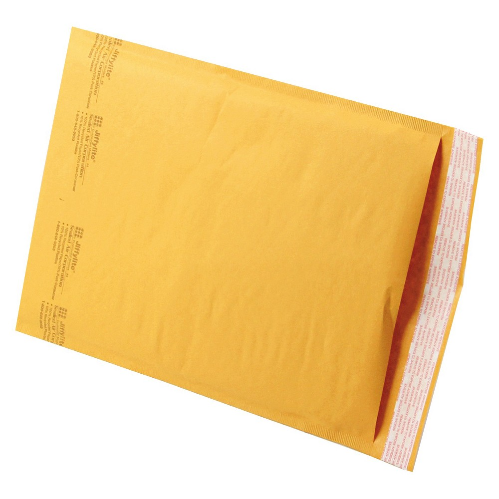 Image of Sealed Air Jiffylite Self-Seal Mailer, #4, 9 1/2 x 14 1/2, Golden Brown, 100/Carton