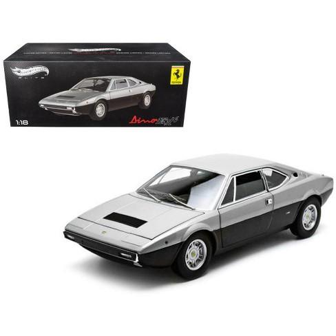 1973 Ferrari Dino 308 GT4 Silver/Black Elite Edition 1/18 Diecast Car Model by Hotwheels - image 1 of 1
