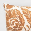 Square Floral Printed Jacobean Throw Pillow - Threshold™ - image 4 of 4