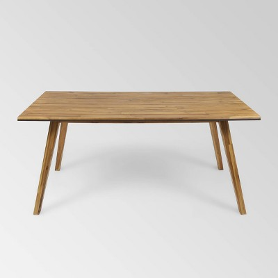 """Downey Rectangle Acacia Wood 71"""" Dining Table - Teak - Christopher Knight Home"""