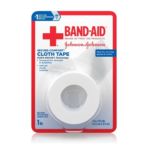 Band-Aid Brand First Aid Medical Tough Cloth Tape - 1in x 10yd - image 1 of 8