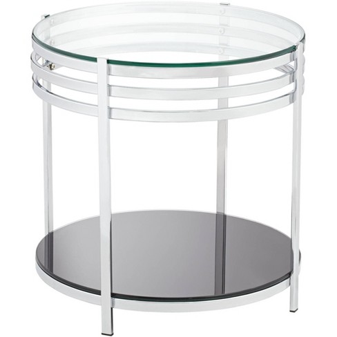 Studio 55d Rico 21 Wide Chrome And Glass Modern Round End Table Target