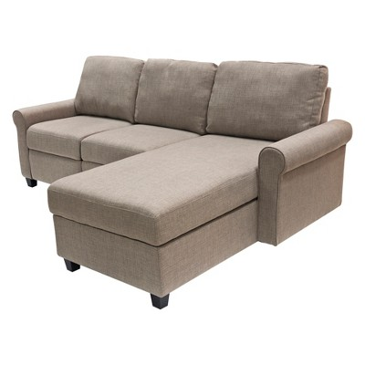 Copenhagen Reclining Sectional with Right Storage Chaise - Serta