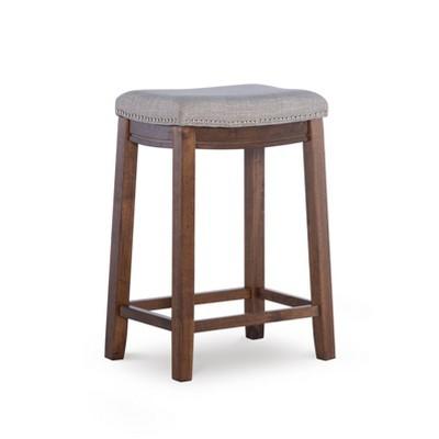 Claridge Rustic Backless Counter Stool Gray - Linon