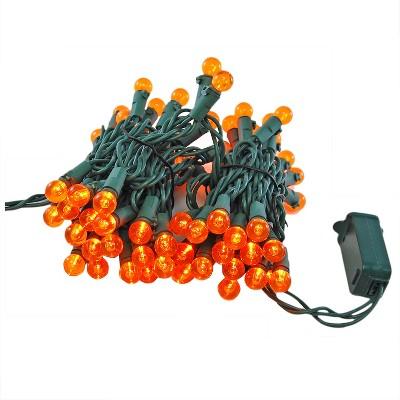 70 Lights Electric Globe String Lights LED Orange