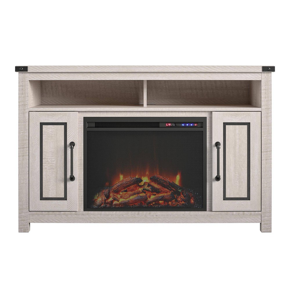 """Image of """"48"""""""" Bellrock Fireplace TV Stand Rustic White - Room & Joy"""""""