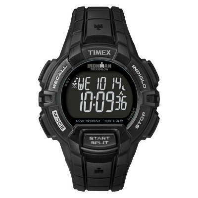 Men's Timex Ironman Rugged 30 Lap Digital Watch - Black T5K793JT