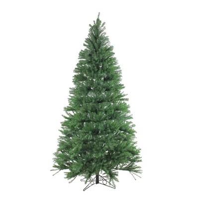 Santa's Own 7.5' Unlit Artificial Christmas Tree Slim Alexandria Pine