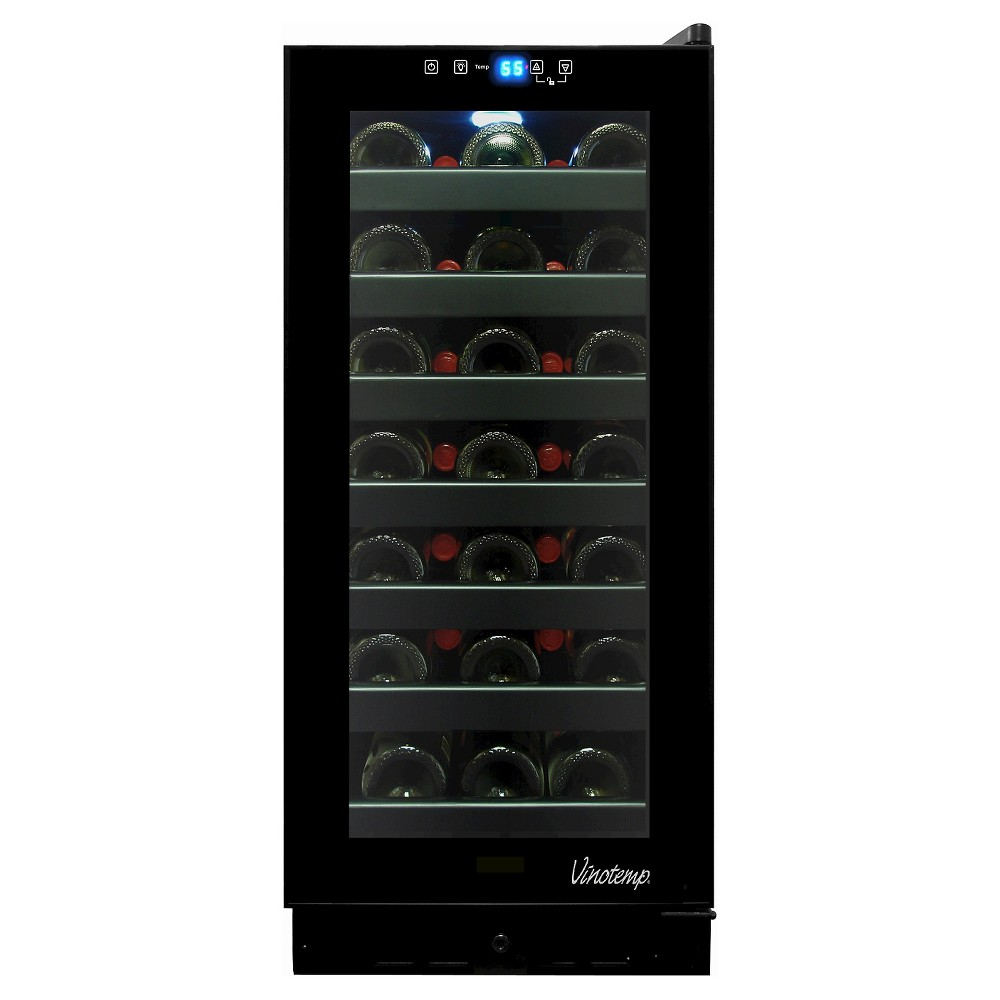 Vinotemp 32 Bottle Touch Screen Cooler - Black VT-32TS-FE