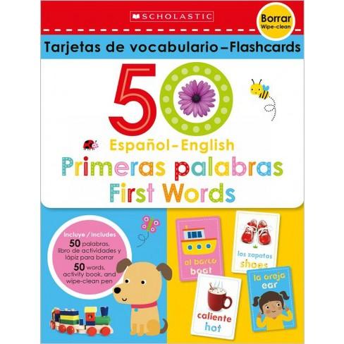 Flash Cards Set 50 Spanish English First Words Target