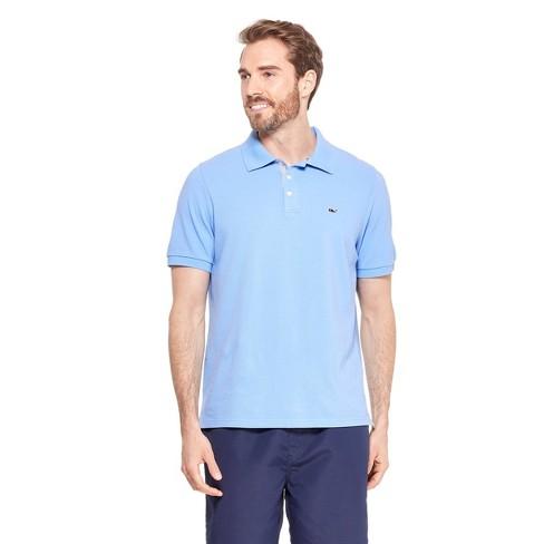 6872e383 Men's Short Sleeve Polo Shirt - Light Blue - Vineyard Vines® For Target :  Target