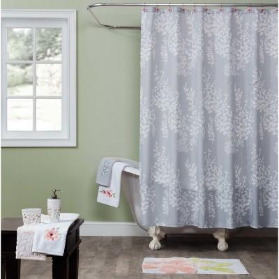 Resting Garden Leaf Shower Curtain Gray - Saturday Knight Ltd.