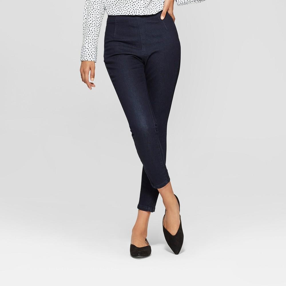 Women's Skinny High-Rise Denim Ankle Pants - A New Day Indigo 2, Blue
