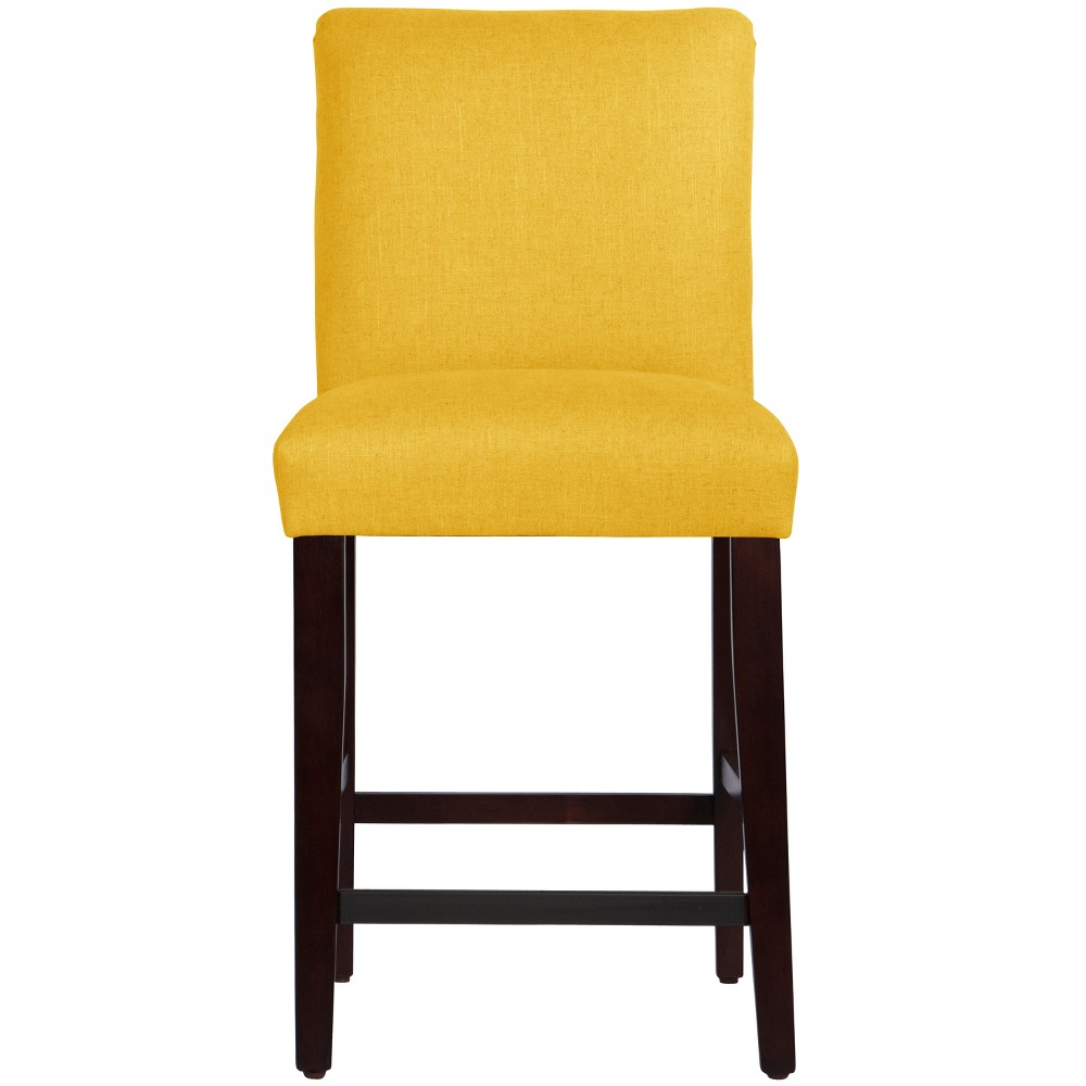 Parsons Counter Height Barstool Yellow Linen - Threshold Coupons