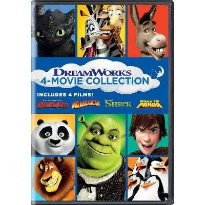 Shrek/Madagascar (2005)/Kung Fu Panda/How to Train Your Dragon (DVD)