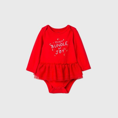 Baby Girls' 'Tiny Bundle of Joy' Tutu Dress - Cat & Jack™ Red 12M