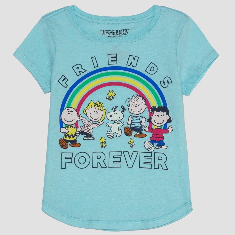 Girls' Peanuts Friends Forever Short Sleeve T-Shirt - Blue XL