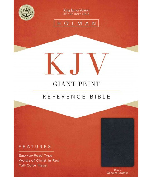 Holy Bible : King James Version, Black, Genuine Leather, Giant Print, Reference (Paperback) - image 1 of 1
