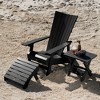Manhattan Beach Adirondack Patio Chair with Side Table & Ottoman - highwood - image 2 of 4