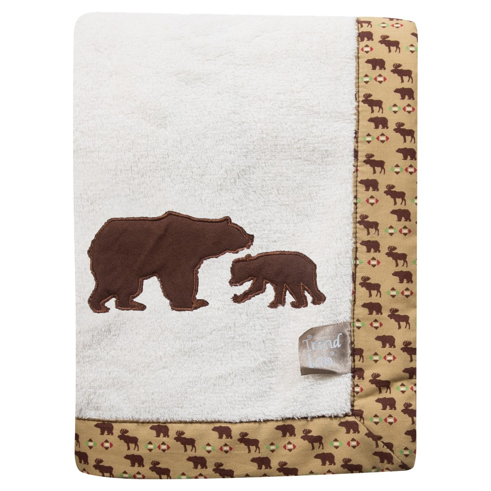 Image of Trend Lab Northwoods Bear Receiving Blanket