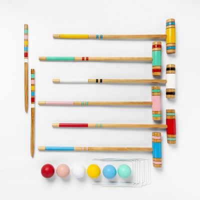 Lawn Sports Croquet Set Variegated Stripe - Sun Squad™