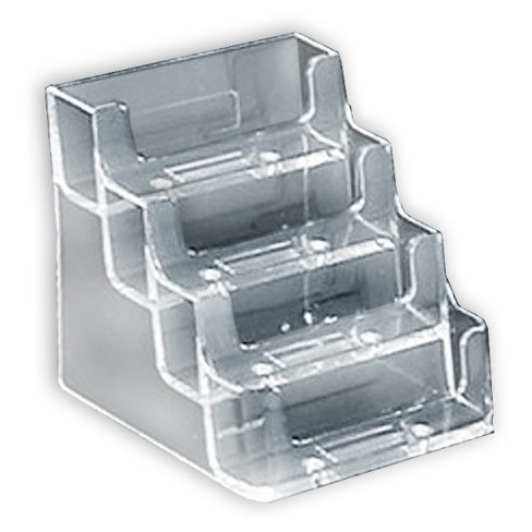 Azar® Four-tier Acrylic Business/Gift Card Holder 10ct - image 1 of 1