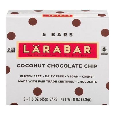Larabar Coconut Chocolate Chip Fruit & Nut Food Bar - 5ct