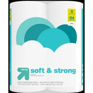Soft & Strong Septic Safe Toilet Paper - 6 Mega Rolls - Up&Up™