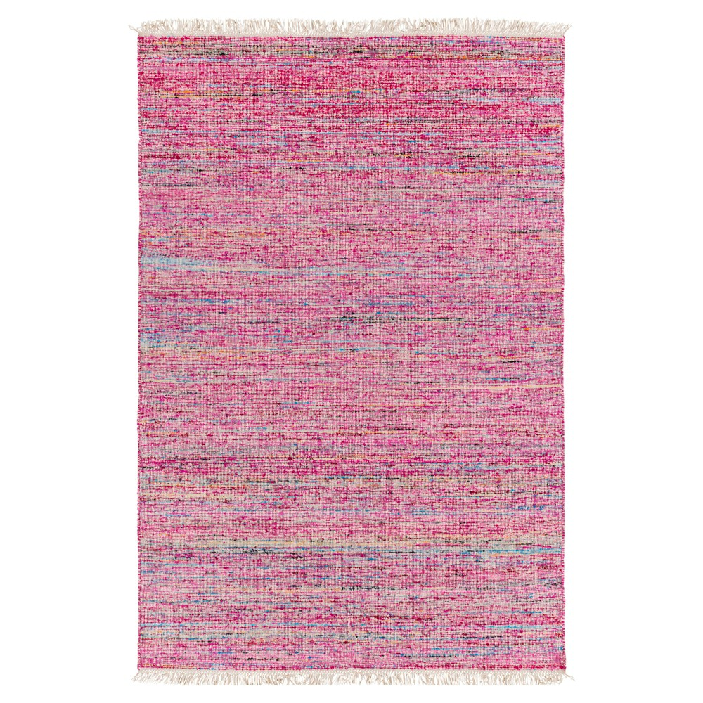 Bright Pink Solid Woven Area Rug - (8'X10') - Surya