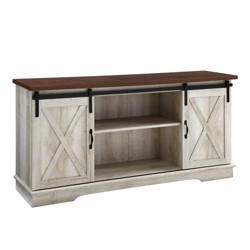 "58"" Sliding Barn Door Console - Saracina Home"