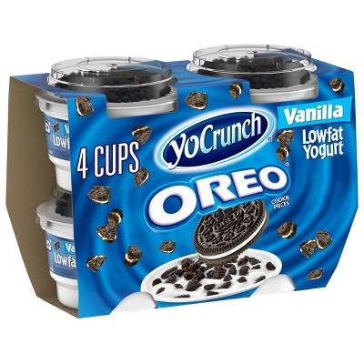 YoCrunch Oreo Vanilla Low Fat Yogurt - 4oz/4ct