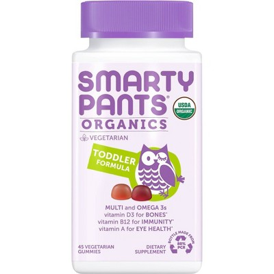 SmartyPants Organics Toddler Formula Multivitamin Gummies - 45ct