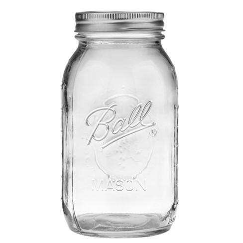 Ball 32oz 12pk Glass Regular Mouth Mason Jar with Lid and Band - image 1 of 4