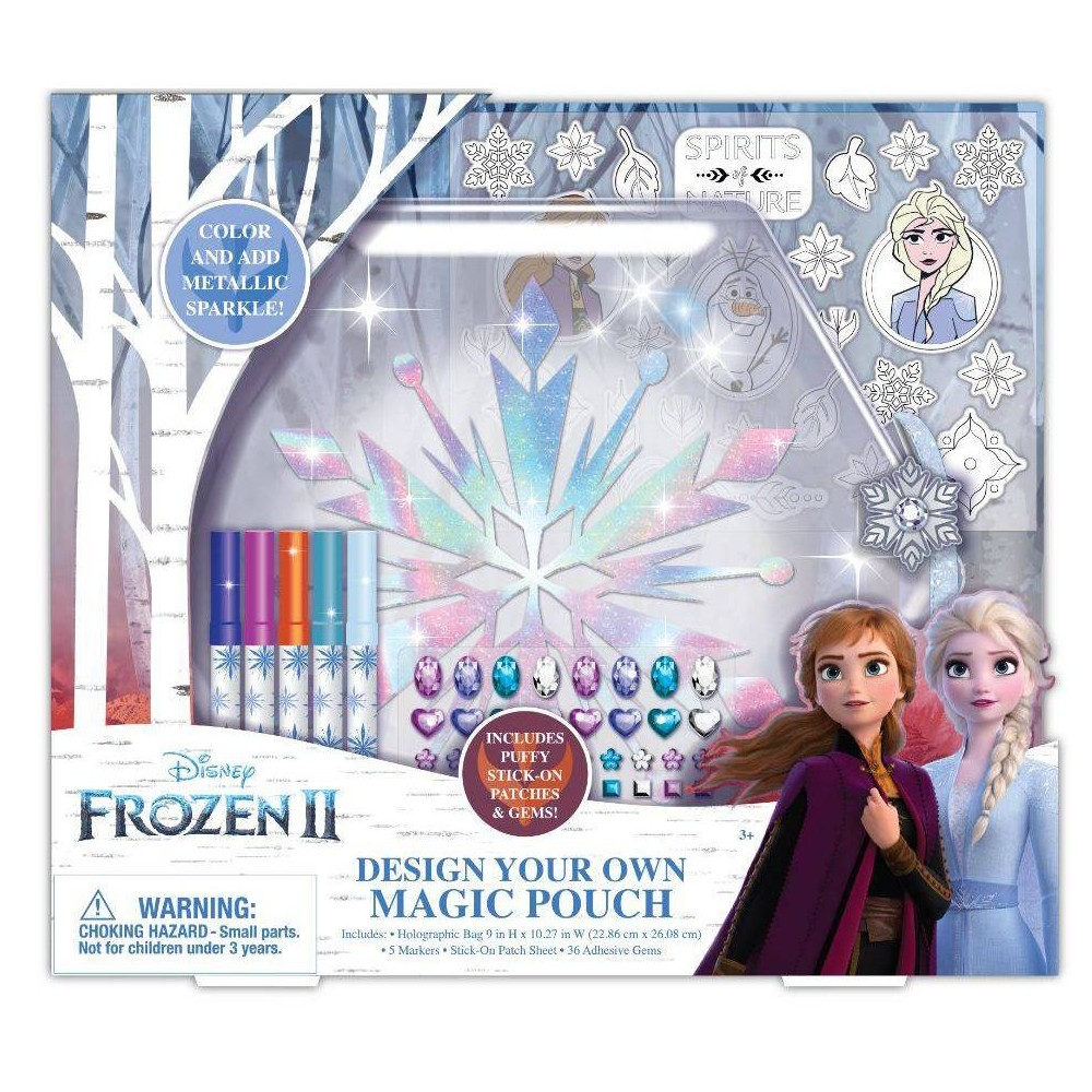 Image of Disney Frozen 2 Design Your Own Magic Pouch Craft Activity Kit