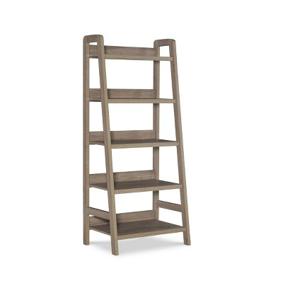 "60.13"" 5 Shelf Bookshelf Gray - Linon"