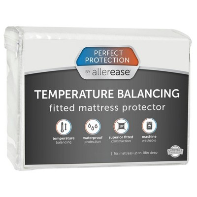 Queen Perfect Protection Temperature Balancing Mattress Protector - Allerease