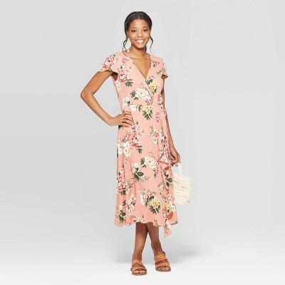 New Xhilaration Sleeveless Short Floral Print Dress Blue Combo Womens M,L