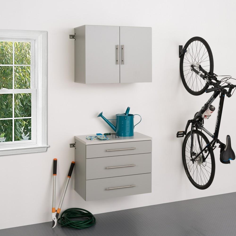 Hangups 30 Storage Cabinet Light Gray 2pc - Prepac