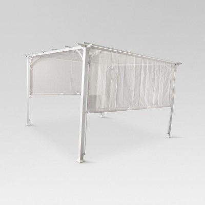 8' x 8' Adjustable Shade Pergola - White - Threshold™
