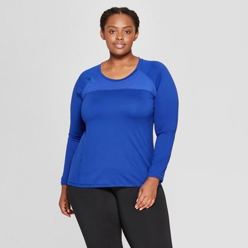 a5fa6f7a02e33 Women s Plus Size Long Sleeve Run T-Shirt - C9 Champion® Cobalt Blue ...