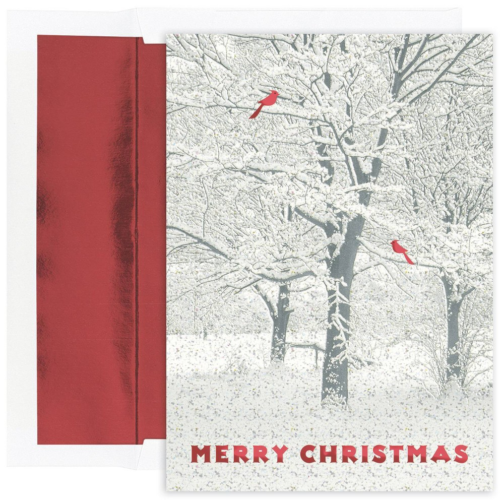Image of 16ct Snowy Trees Greeting Cards - Masterpiece Studio