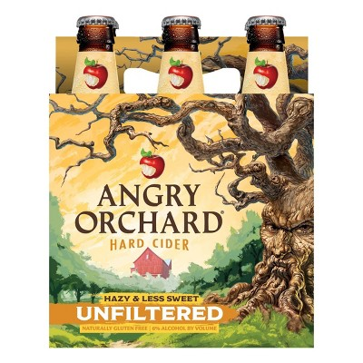Angry Orchard Unfiltered Hard Apple Cider - 6pk/12 fl oz Cans