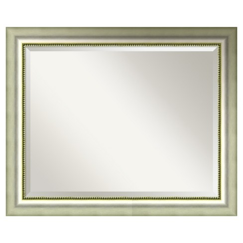 "Wall Mirror Large (33"" x 27"") Vegas Burnished Silver - image 1 of 8"